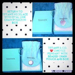 ❤️U Notes Pendant and Return to Tiffany necklaces.